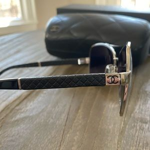 Chanel Quilted Leather Sunglasses